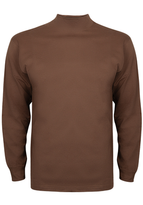 Alan Red T-shirt Illinois, turtleneck, toffee bruin