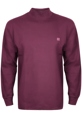 Alan Red T-shirt Illinois, turtleneck, bordeaux rood