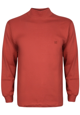 Alan Red T-shirt Illinois, turtleneck, warm oranje
