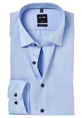 OLYMP Modern Fit overhemd, lichtblauw 2-ply twill (contrast)