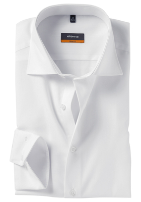 ETERNA Slim Fit Stretch overhemd, niet doorschijnend wit twill