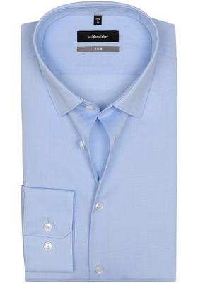 Seidensticker X-Slim overhemd, mouwlengte 7, lichtblauw