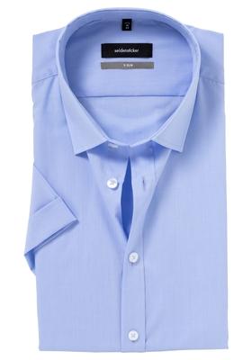 Seidensticker X-Slim overhemd, korte mouwen, lichtblauw