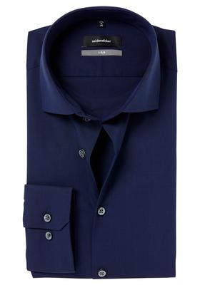 Seidensticker X-Slim overhemd, donkerblauw fil à fil