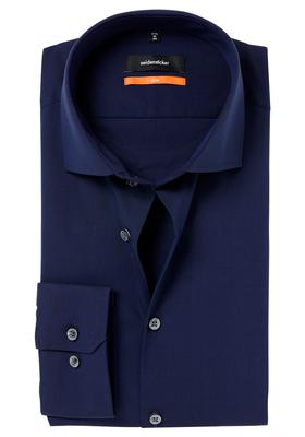 Seidensticker Slim Fit overhemd, donkerblauw fil à fil