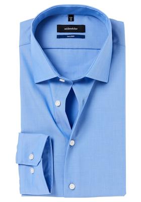 Seidensticker Tailored Fit, blauw fil à fil