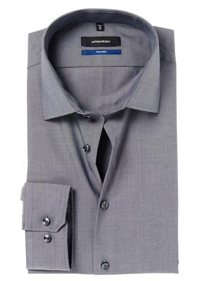 Seidensticker Shaped Fit overhemd, antraciet fil à fil