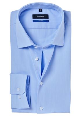 Seidensticker Shaped Fit overhemd, lichtblauw gestreept