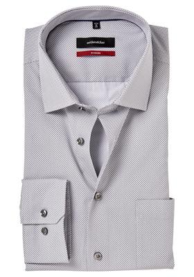 Seidensticker Modern Fit overhemd, grijs dessin