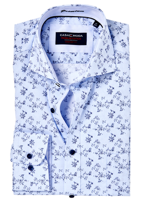 Casa Moda Comfort Fit overhemd, blauw dessin (contrast)