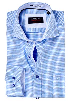 Casa Moda Comfort Fit overhemd, lichtblauw dessin (contrast)