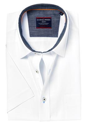 Casa Moda Comfort Fit, overhemd korte mouw, wit (contrast)