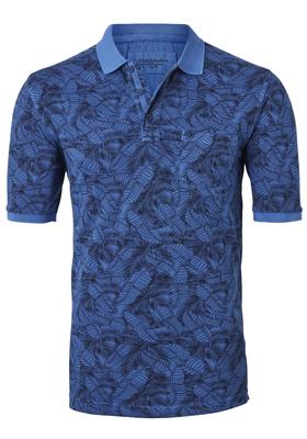 Casa Moda Comfort Fit poloshirt, blauw dessin