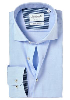 Michaelis Slim Fit overhemd, blauw (contrast)