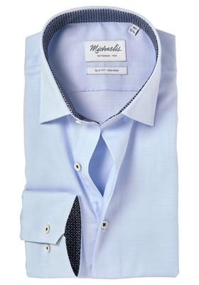 Michaelis Slim Fit overhemd, lichtblauw (contrast)