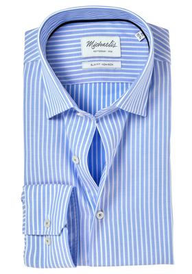 Michaelis Slim Fit overhemd, blauw gestreept