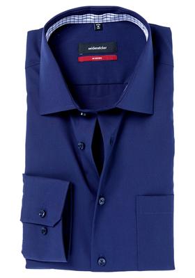 Seidensticker Modern Fit overhemd, mouwlengte 7,  blauw (contrast)