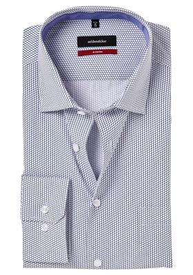Seidensticker Modern Fit overhemd, blauw dessin (contrast)