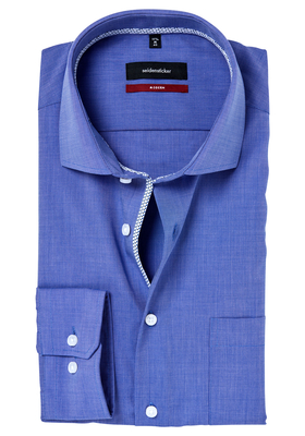 Seidensticker Modern Fit overhemd, blauw (contrast)