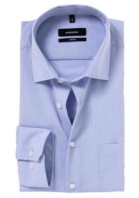 Seidensticker Comfort Fit overhemd, mouwlengte 7, lichtblauw