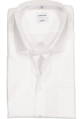 Seidensticker comfort fit overhemd, korte mouw, wit