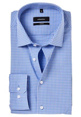 Seidensticker Comfort Fit overhemd, lichtblauw geruit