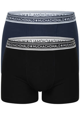 Muchachomalo boxershorts Bamboo, 2-pack, zwart en blauw