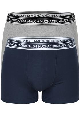 Muchachomalo boxershorts Bamboo, 2-pack, blauw en grijs