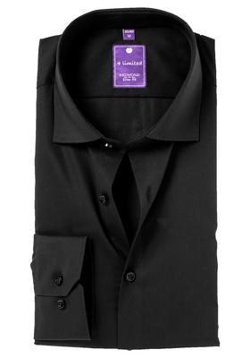 Redmond Slim Fit overhemd, zwart