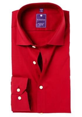 Redmond slim fit overhemd, rood