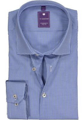 Redmond Slim Fit overhemd, blauw geruit (contrast)