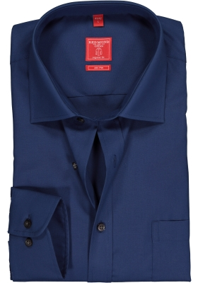Redmond Regular Fit overhemd, marine blauw