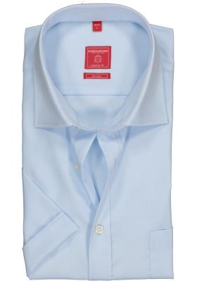 Redmond regular fit overhemd, korte mouw, lichtblauw