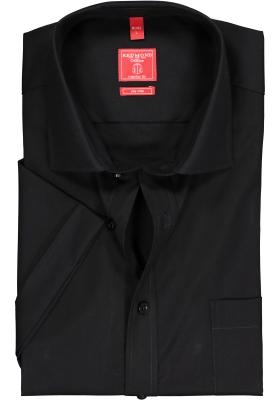 Redmond Regular Fit overhemd korte mouw, zwart