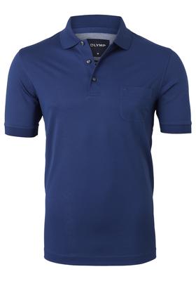 OLYMP Modern Fit poloshirt, jeans blauw