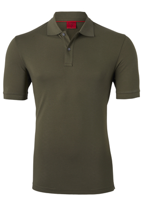 OLYMP Level 5 Body Fit poloshirt (stretch), olijf groen