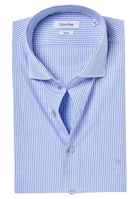 Calvin Klein Fitted overhemd (Rome), Blue, wit-blauw geruit