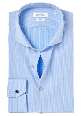 Calvin Klein Fitted overhemd (Norwich), Blue, blauw dessin