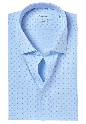 Calvin Klein Fitted overhemd (Cannes), blauw dessin (ultra blue)