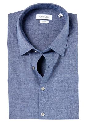 Calvin Klein Slim Fit overhemd (Padua), blauw melange (Steel blue)