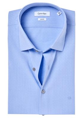 Calvin Klein Slim Fit overhemd (Bari), lichtblauw met stipje (light blue)