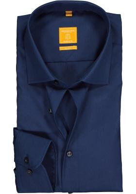 Redmond modern fit overhemd, rookblauw