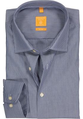 Redmond Modern Fit overhemd, donker blauw gestreept