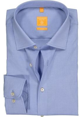 Redmond Modern Fit overhemd, blauw patroon
