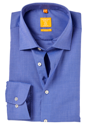 Redmond Modern Fit overhemd, donker blauw patroon
