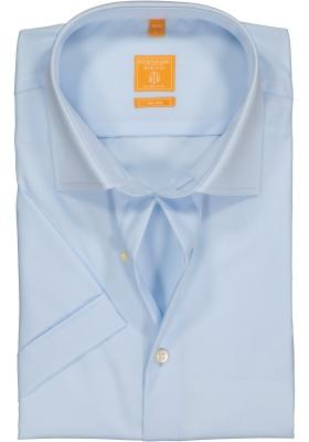 Redmond Modern Fit overhemd, korte mouw, licht blauw