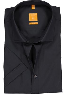 Redmond Modern Fit overhemd, korte mouw, antraciet