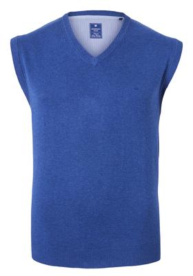 Redmond heren spencer katoen, V-hals, jeansblauw