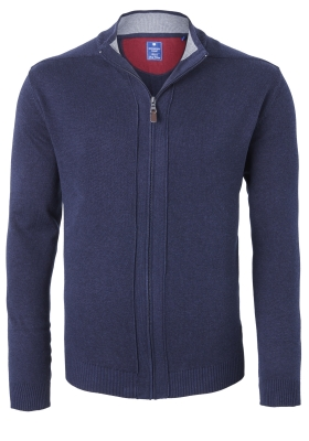 Redmond heren vest katoen, marine blauw (met rits)