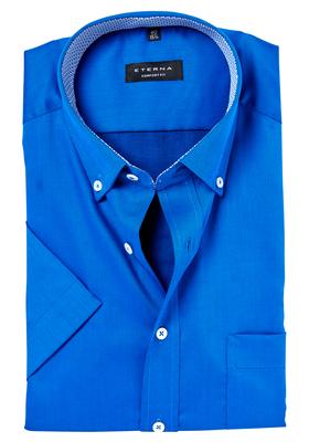 ETERNA Comfort Fit, korte mouw, blauw (rood-wit-blauw contrast)